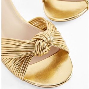 NWT JustFab Cati Slide Sandal in Gold